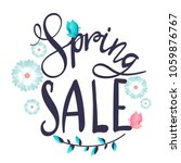 spring sale. floral...   Shutterstock .eps vector #1059876767