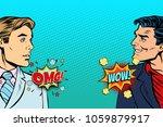 pop art man reaction retro... | Shutterstock .eps vector #1059879917
