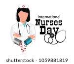 international nurse day | Shutterstock .eps vector #1059881819