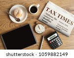 tax times mock up newspaper... | Shutterstock . vector #1059882149