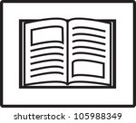 open book vector | Shutterstock .eps vector #105988349