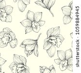 vector floral vintage seamless... | Shutterstock .eps vector #1059884945