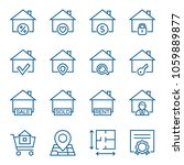 set of real estate icons.... | Shutterstock .eps vector #1059889877