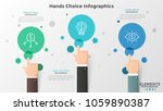 three hands with index finger... | Shutterstock .eps vector #1059890387