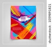 artistic colorful brushstrokes... | Shutterstock .eps vector #1059891821