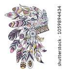 boho illustration with... | Shutterstock .eps vector #1059894434