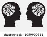human brain with wheel... | Shutterstock .eps vector #1059900311