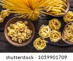 different pasta types on the... | Shutterstock . vector #1059901709