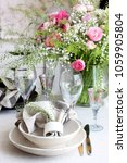 table decoration for spring | Shutterstock . vector #1059905804