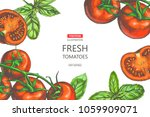 vector vintage background with... | Shutterstock .eps vector #1059909071