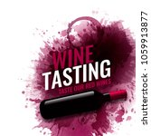 vertical banner with wine... | Shutterstock .eps vector #1059913877