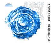 blue brush stroke and texture.... | Shutterstock .eps vector #1059916031
