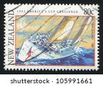 new zealand   circa 1992  stamp ... | Shutterstock . vector #105991661