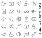 thin line icon set   hand touch ... | Shutterstock .eps vector #1059919814
