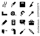 solid vector icon set  ... | Shutterstock .eps vector #1059920579