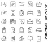 thin line icon set   stamp... | Shutterstock .eps vector #1059921734