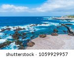 view of puerto de la cruz and... | Shutterstock . vector #1059929957