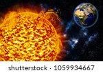 sunspot explosions sending... | Shutterstock . vector #1059934667