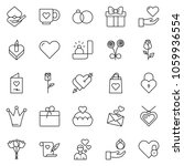 thin line icon set   rose... | Shutterstock .eps vector #1059936554