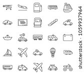 thin line icon set   train... | Shutterstock .eps vector #1059937964
