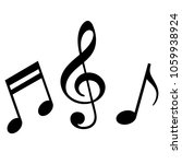signs of a musical notation.... | Shutterstock .eps vector #1059938924