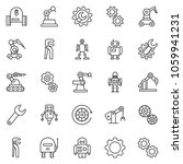 thin line icon set   wrench... | Shutterstock .eps vector #1059941231