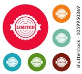 limited logo. simple... | Shutterstock . vector #1059950369