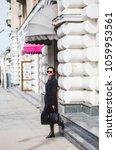 fashion stylish beautiful woman ... | Shutterstock . vector #1059953561