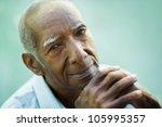 portrait of happy senior... | Shutterstock . vector #105995357