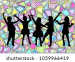 children silhouette. abstract... | Shutterstock .eps vector #1059966419