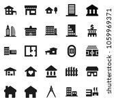 flat vector icon set  ... | Shutterstock .eps vector #1059969371