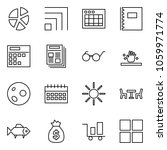flat vector icon set   graph...