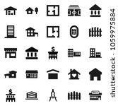flat vector icon set   school... | Shutterstock .eps vector #1059975884
