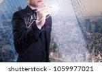 a successful business concept   Shutterstock . vector #1059977021
