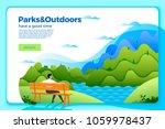 vector bright banner template... | Shutterstock .eps vector #1059978437