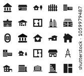 flat vector icon set  ... | Shutterstock .eps vector #1059979487