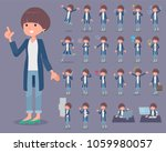 a set of women with who express ... | Shutterstock .eps vector #1059980057