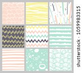 hand drawn pattern collection.... | Shutterstock . vector #1059983315