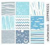 hand drawn pattern collection.... | Shutterstock . vector #1059983321