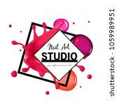 nail art studio logo design... | Shutterstock .eps vector #1059989951