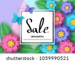 spring or summer   sale banner... | Shutterstock .eps vector #1059990521