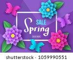 spring  season  sale banner... | Shutterstock .eps vector #1059990551