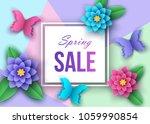 spring or summer  season  sale... | Shutterstock .eps vector #1059990854