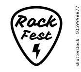 rock fest badge label vector.... | Shutterstock .eps vector #1059996677