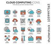 cloud computing. internet... | Shutterstock .eps vector #1059997565