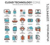 cloud computing. internet... | Shutterstock .eps vector #1059997571