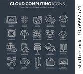cloud computing. internet... | Shutterstock .eps vector #1059997574