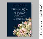 wedding invitation cream daisy... | Shutterstock .eps vector #1060009661