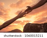 hold on for dear life. saving... | Shutterstock . vector #1060015211