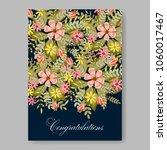 wedding invitation petunia... | Shutterstock .eps vector #1060017467
